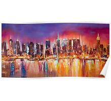 Vibrant New York City Skyline Poster