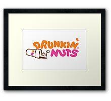 Drunkin' Nuts Framed Print