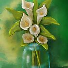 Jar of Calla Lilies by Cherie Balowski