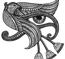Eye of Horus (Tattoo Style Print) by Anita Inverarity