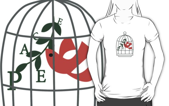 Peace T-Shirt by Voila and Black Ribbon