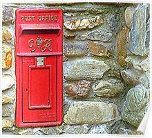 The Red Irish Post Box Poster