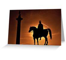 Sunset at Trafalgar Square, London Greeting Card