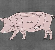 Parts of a Pig with Emphasis on Bacon by nealcampbell