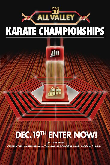 ALL VALLEY KARATE KID TOURAMENT POSTER by Pitbull88