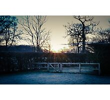 Countryside in the frost Photographic Print