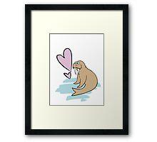Hippy Love Walrus Framed Print