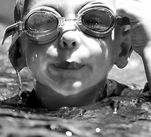 so hard to see when your goggles are full of water by Clare Colins