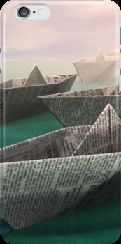 Paper Boats by donnarebecca