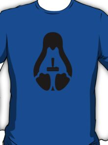 /r/linux_gaming Stycil Tux Shirt (black) T-Shirt