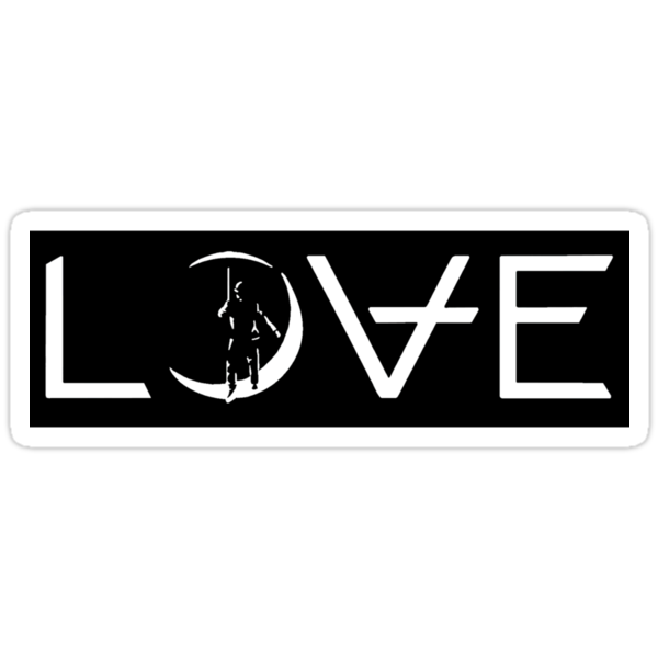 "Angels & Airwaves ""L)VE"" Logo Sticker by allthingsblink"