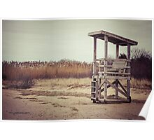 A Desolate Winter Beach Poster