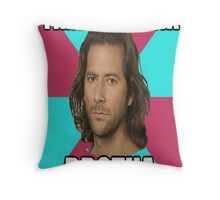 """Desmond Hume """"Time To Drink BROTHA"""" (LOST Poster) Throw Pillow"""