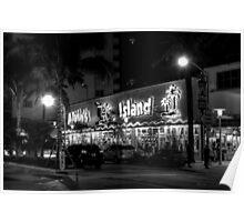 Corner of Collins Avenue and Lincoln Road on Miami Beach in Florida Poster