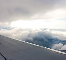 Top of the clouds from a plane by LaurentS