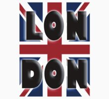 LONDON UNION JACK IN COLOUR UK BRITISH by TOM HILL - Designer