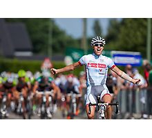 Arrival cycling competition Photographic Print