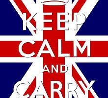 Keep calm and carry on with union jack by nadil
