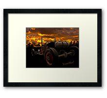 Ford Rat Rod T and a Sundown Destination Framed Print