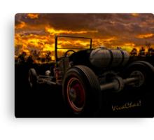 Ford Rat Rod T and a Sundown Destination Canvas Print