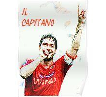 """Francesco Totti """"IL Capitano"""" ROMA Poster"""