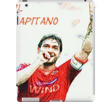 """Francesco Totti """"IL Capitano"""" ROMA iPad Case/Skin"""