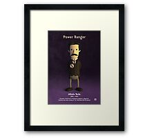 Nikola Tesla - Power Ranger Framed Print