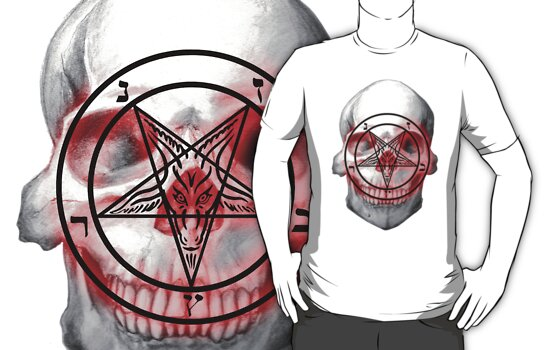 Pentagram Baphomet Skull. by aamazed