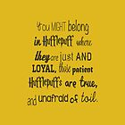 Are You A Hufflepuff? by cocolovett