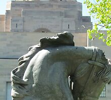 Horses head, War Memorial, Australia by Martina Nicolls