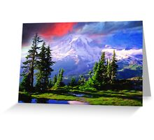 snowy mountains art Greeting Card