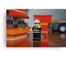 Fireman Bob to the rescue! Canvas Print