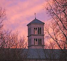 St. Joan of Arc Catholic Church at Sunset 2 by indiana9495