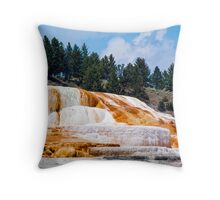 Mammoth Hot Springs - Yellowstone National Park, Wyoming Throw Pillow