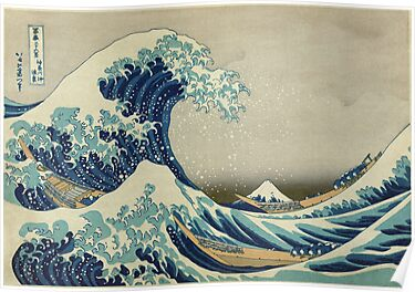 The Great Wave off Kanagawa by nadil