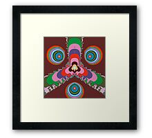 Psychedelic Eyes Framed Print