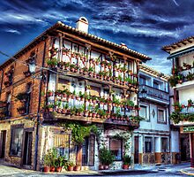 Casa de las Flores, Plaza mayor, Candeleda, Spain by Wendy  Rauw