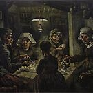 The Potato Eaters Vincent van Gogh vintage art by nadil