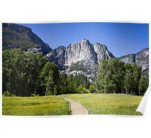 Yosemite Valley & Falls Poster
