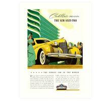1940 Cadillac Vintage Poster Art Print