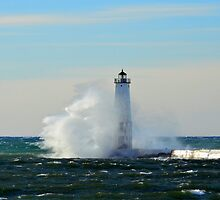 Frankfort Lighthouse by Debbie  Maglothin