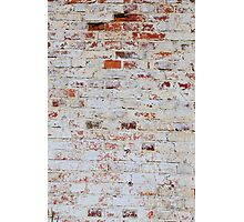 White brick wall Photographic Print