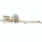 The Royal Crescent in the Snow. by AlysonArtShop