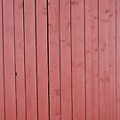 Old red blank wall by Kristian Tuhkanen
