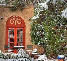 Southwest Cottage in the Snow by Diana Graves Photography