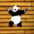 Panda - on Bamboo  by impulsiVdesigns