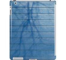 Blue plank wall iPad Case/Skin
