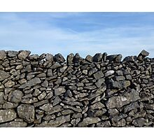 Dry Stone Wall - Middleton Moor #2 Photographic Print