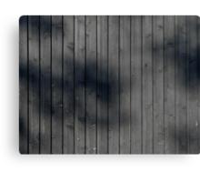 Black plank wall Canvas Print