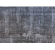 Gray plaster wall Photographic Print